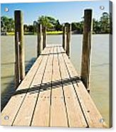 Murray River Jetty Acrylic Print