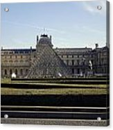 Musee Du Louvre In Paris France Acrylic Print