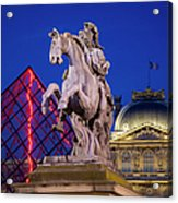 Musee Du Louvre Statue Acrylic Print
