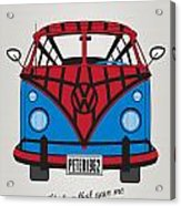 My Superhero-vw-t1-spiderman Acrylic Print