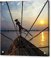 Myanmar, Inle Lake Acrylic Print
