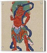 Mythological Buddhist Or Hindu Figure Circa 1878 Acrylic Print