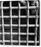 N Y C Grates In Black And White Acrylic Print