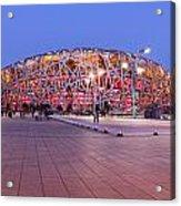 National Stadium Panorama Beijing China Acrylic Print by Colin and Linda McKie