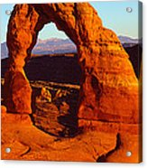 Natural Arch In A Desert, Delicate Acrylic Print