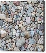 Natural Rock Pebble Backgorund Acrylic Print