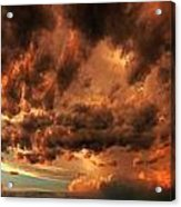 Nebraska Thunderset Acrylic Print