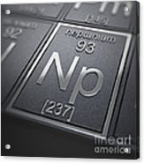 Neptunium Chemical Element Acrylic Print