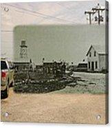 Net Mending At Sakonnet Point In Little Compton Rhode Island Acrylic Print