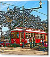 New Orleans Streetcar Painted Acrylic Print