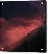 New River Sunset Fog Acrylic Print