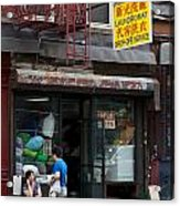 New York Chinese Laundromat Sign Acrylic Print