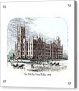 New York City Normal College - 1870 Acrylic Print