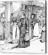 New York Milliner, 1889 Acrylic Print