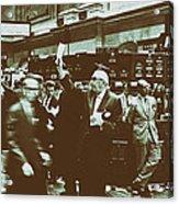 New York Stock Exchange 1963 Acrylic Print
