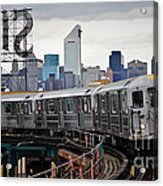 New York Train Acrylic Print
