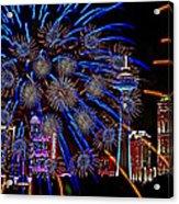 Niagara Fireworks Acrylic Print