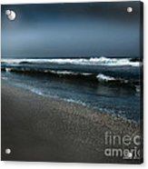 Night Beach  Acrylic Print by Artist and Photographer Laura Wrede