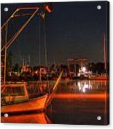 Night In The Harbor Acrylic Print