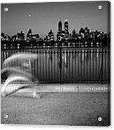 Night Jogger Central Park Acrylic Print