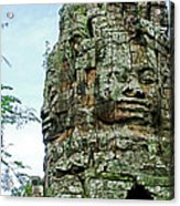 North Gate Of Angkor Thom In Angkor Wat Archeological Park-cambodia Acrylic Print