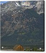 North Moulton Barn Grand Tetons Acrylic Print