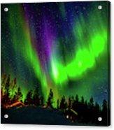 Northern Lights, Lapland, Sweden Acrylic Print