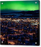 Northern Lights Over Whitehorse Acrylic Print