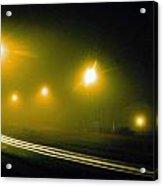 Notre Dame Fog Acrylic Print