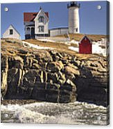 Nubble Lighthouse 3 Acrylic Print by Joann Vitali