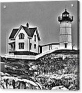Nubble Lighthouse Cape Neddick Maine Acrylic Print by Glenn Gordon