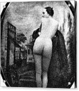 Nude Posing: Rear View Acrylic Print