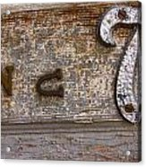 Number Seven  Acrylic Print