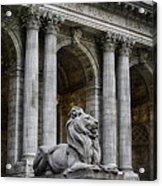 Ny Library Lion Acrylic Print