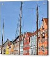 Nyhavn In Copenhagen Denmark - Famous Tourist Attraction Acrylic Print