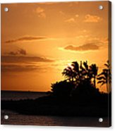 Oahu Sunset Acrylic Print