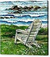 Ocean Chair Acrylic Print