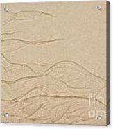 Ocean Sand Art Acrylic Print