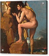 Oedipus And The Sphinx Acrylic Print