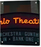 Ohio Theater Marquee Theater Sign Acrylic Print