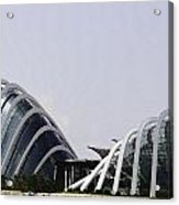 Oil Painting - Both Of The Conservatories Of The Gardens By The Bay In Singapore Acrylic Print