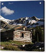 Old Cabin In Rocky Mountains Acrylic Print