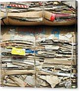 Old Cardboard Boxes Acrylic Print