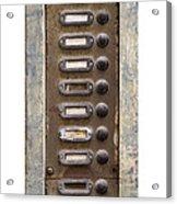 Old Doorbells Acrylic Print