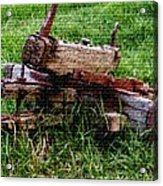 Old Farm Implement H B Acrylic Print
