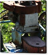 Old Junky Lawn Mower Acrylic Print