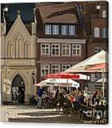 Old Market Square Stralsund Germany Acrylic Print by David Davies