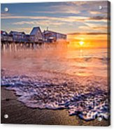 Old Orchard Beach Sea Smoke Acrylic Print
