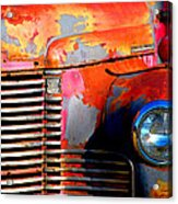Old Red Man Acrylic Print by Gail Lawnicki