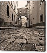 Old Street In Prague Acrylic Print